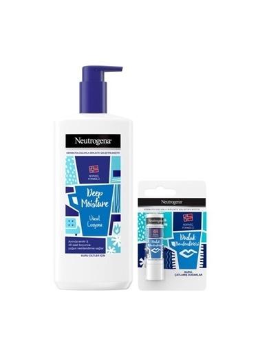 Neutrogena Deep Moisture Parfümlü Vücut Losyonu 400 Ml + Dudak Nemlendiricisi Renksiz